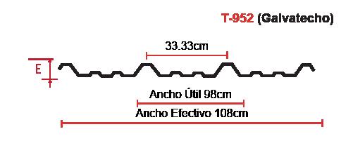 lamina-t-952-galvatecho